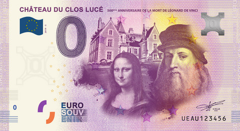 Ranska 0 euro 2019 Da Vinci & Mona Lisa UNC