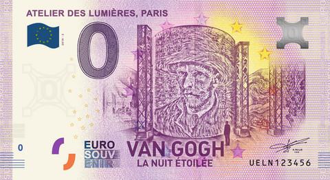 Ranska 0 euro 2019 van Gogh & Atelier Lumieres UNC