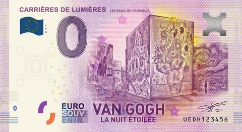 Ranska 0 euro 2019 van Gogh & Carrieres Lumieres UNC