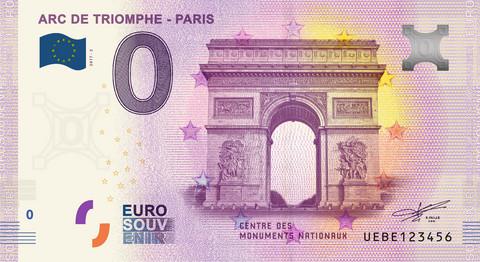 Ranska 0 euro 2019 Pariisin riemukaari (Arc de Triomphe) UNC