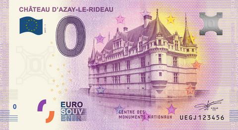 Ranska 0 euro 2019 Chateau D'Azay-le-Rideau UNC