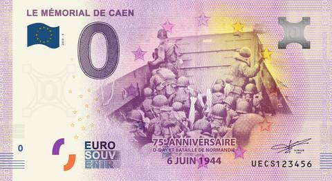 Ranska 0 euro 2019 Memorial Caen 1944 UNC