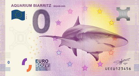 Ranska 0 euro 2019 Haiseteli Aquarium Biarritz UNC