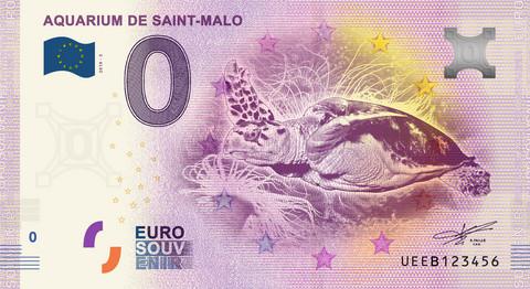Ranska 0 euro 2019 Kilpikonnaseteli Aquarium de Saint-Malo UNC
