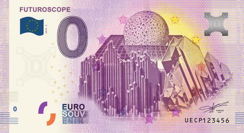 Ranska 0 euro 2019 Futuroscope/3 UNC