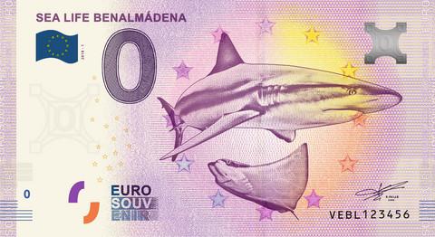 Espanja 0 euro 2019 Haiseteli Sealife Benalmadena UNC