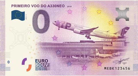 Portugali 0 euro 2019 Primeiro Voo do A330NEO UNC