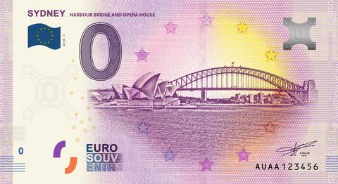 Australia 0 euro 2019 Sydneyn oopperatalo & Harbour Bridge UNC