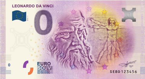 Italia 0 euro 2019 Leonardo da Vinci UNC