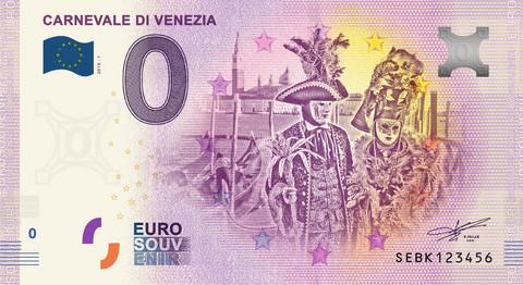 Italia 0 euro 2019 Carnevale di Venezia UNC