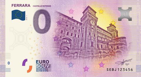 Italia 0 euro 2019 Ferrara & Castello Estense UNC