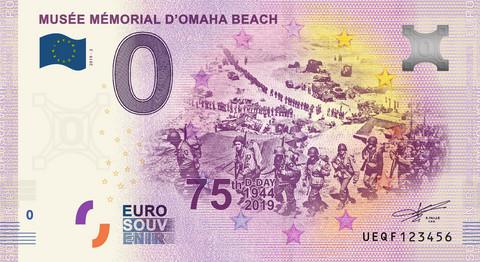 Ranska 0 € 2019 Musée Mémorial d'Omaha Beach UNC