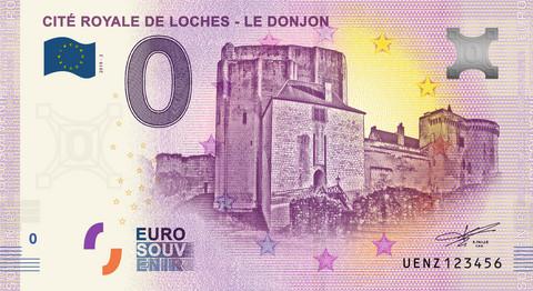 Ranska 0 € 2019 Cité Royale de Loches - le Donjon UNC
