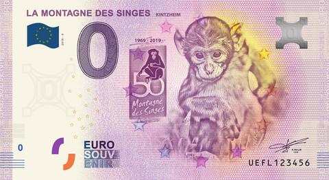 Ranska 0 € 2019 Apinaseteli - Kintzheim UNC