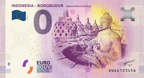 Indonesia 0 euro 2019 Borobudor World Heritage UNC