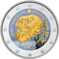 Portugali 2 € 2019 de Magalhães 500 v., väritetty (#1)