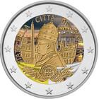 Vatikaani 2 € 2019 Vatikaanivaltio 90 vuotta BU, väritetty