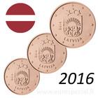 Latvia 1s, 2s & 5s 2016 Vaakuna BU kapseleissa