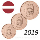Latvia 1s, 2s & 5s 2019 Vaakuna BU kapseleissa