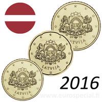 Latvia 10s, 20s & 50s 2016 BU kapseleissa