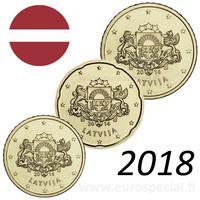 Latvia 10s, 20s & 50s 2018 BU kapseleissa