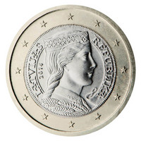 Latvia 1 € 2016 Milda BU