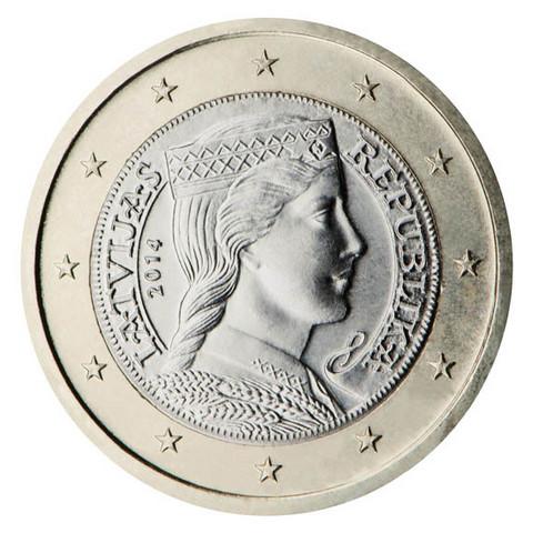 Latvia 1 € 2018 Milda BU kapselissa