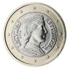 Latvia 1 € 2019 Milda BU kapselissa