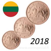 Liettua 1s, 2s & 5s 2018 BU kapseleissa