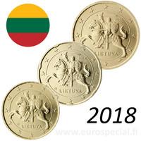 Liettua 10s, 20s & 50s 2018 BU kapseleissa