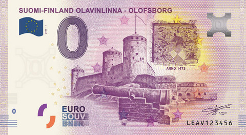 Suomi 0 euro 2019 Olavinlinna-nollaseteli