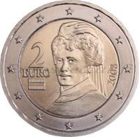 Itävalta 2 € 2019 Bertha von Suttner UNC
