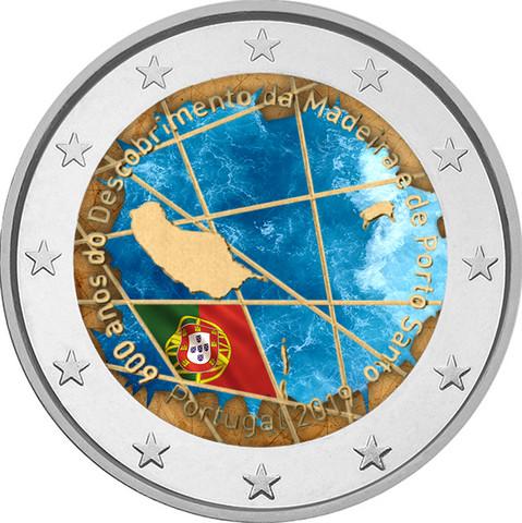 Portugali 2 € 2019 Madeira 600 v., väritetty (#2)