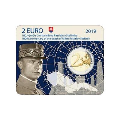 Slovakia 2 € 2018 Milan Rastislav Štefánik coincard