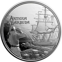 Antigua & Barbuda 2 $ 2019 Rum runner 1 oz HOPEA
