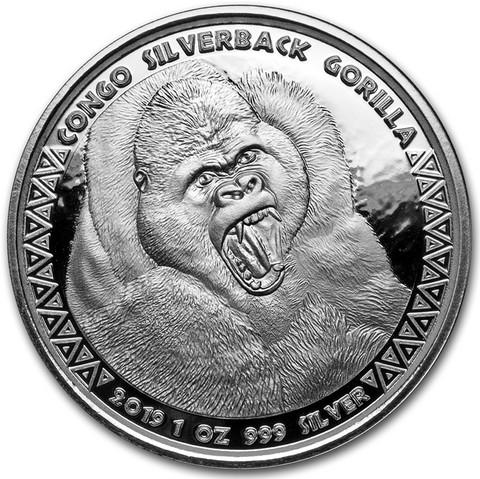 Kongo 5000 frangia 2019 Gorilla 1 oz HOPEA