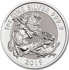 Britannia 2 £ 2019 St. George & lohikäärme 1oz HOPEA