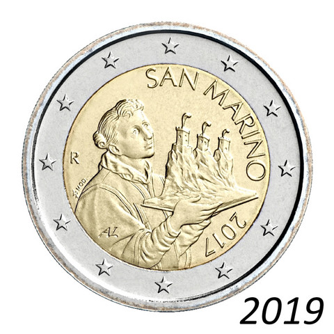 San Marino 2 € 2019 The Portrait of San Marino UNC
