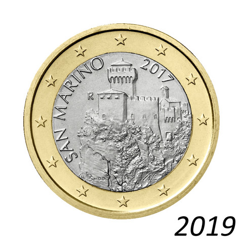 San Marino 1 € 2019 La Césta UNC