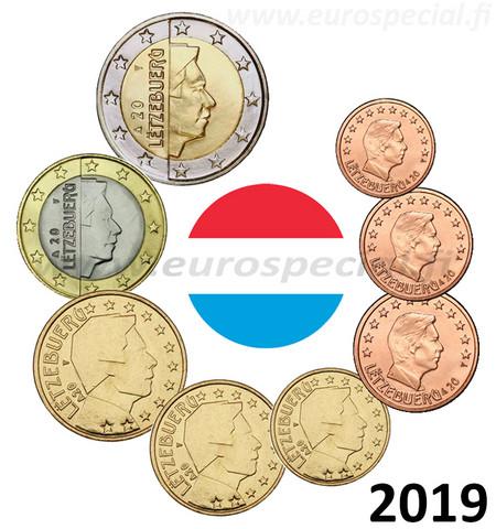 Luxemburg 1s - 2 € 2019 BU Silta-mintmark
