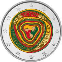 Liettua 2 € 2019 Moniääniset Sutartines, väritetty (#1)