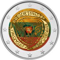 Liettua 2 € 2019 Moniääniset Sutartines, väritetty (#2)