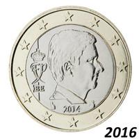 Belgia 1 € 2016 Kuningas Philippe BU kapselissa