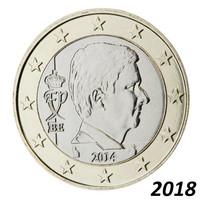 Belgia 1 € 2018 Kuningas Philippe BU kapselissa