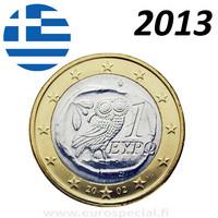 Kreikka 1 € 2013 Pallas Athenan pöllö BU