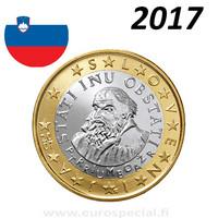 Slovenia 1 € 2017 Primoz Trubar BU