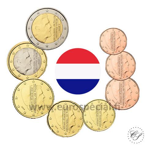 Alankomaat 1s - 2 € 2015 UNC