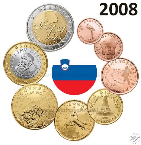 Slovenia 1s - 2 € 2008 BU