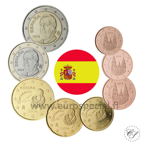 Espanja 1s - 2 € 2012 UNC