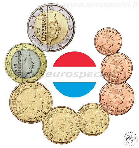 Luxemburg 1s - 2 € 2010 UNC